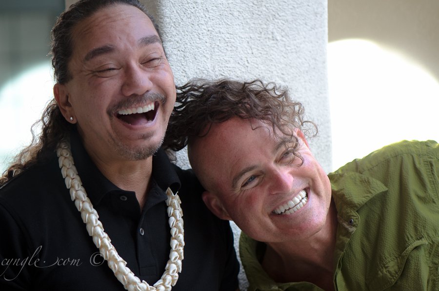 Keali'i Reichel and Randy having some fun.