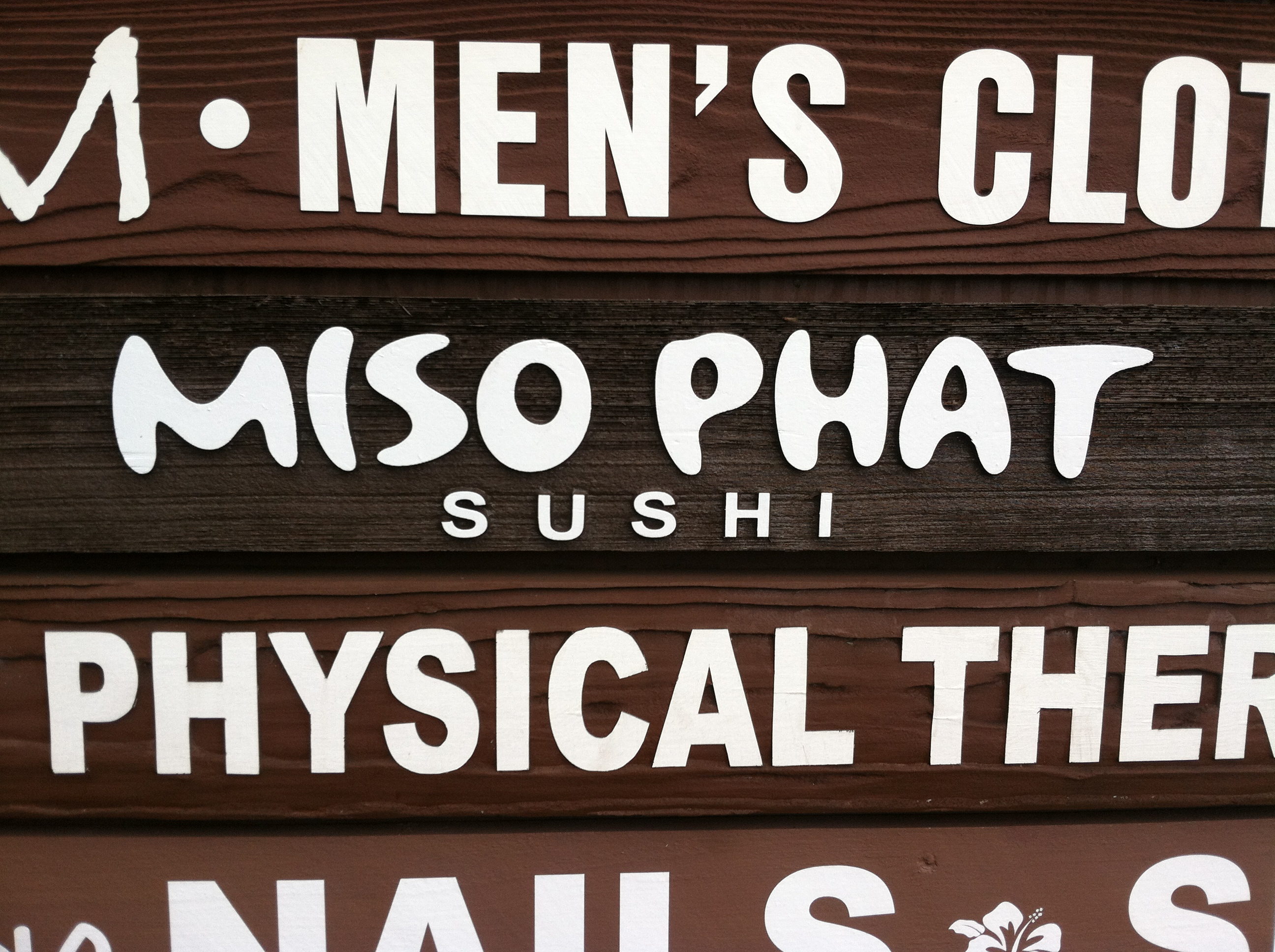 Clever name for a sushi joint.
