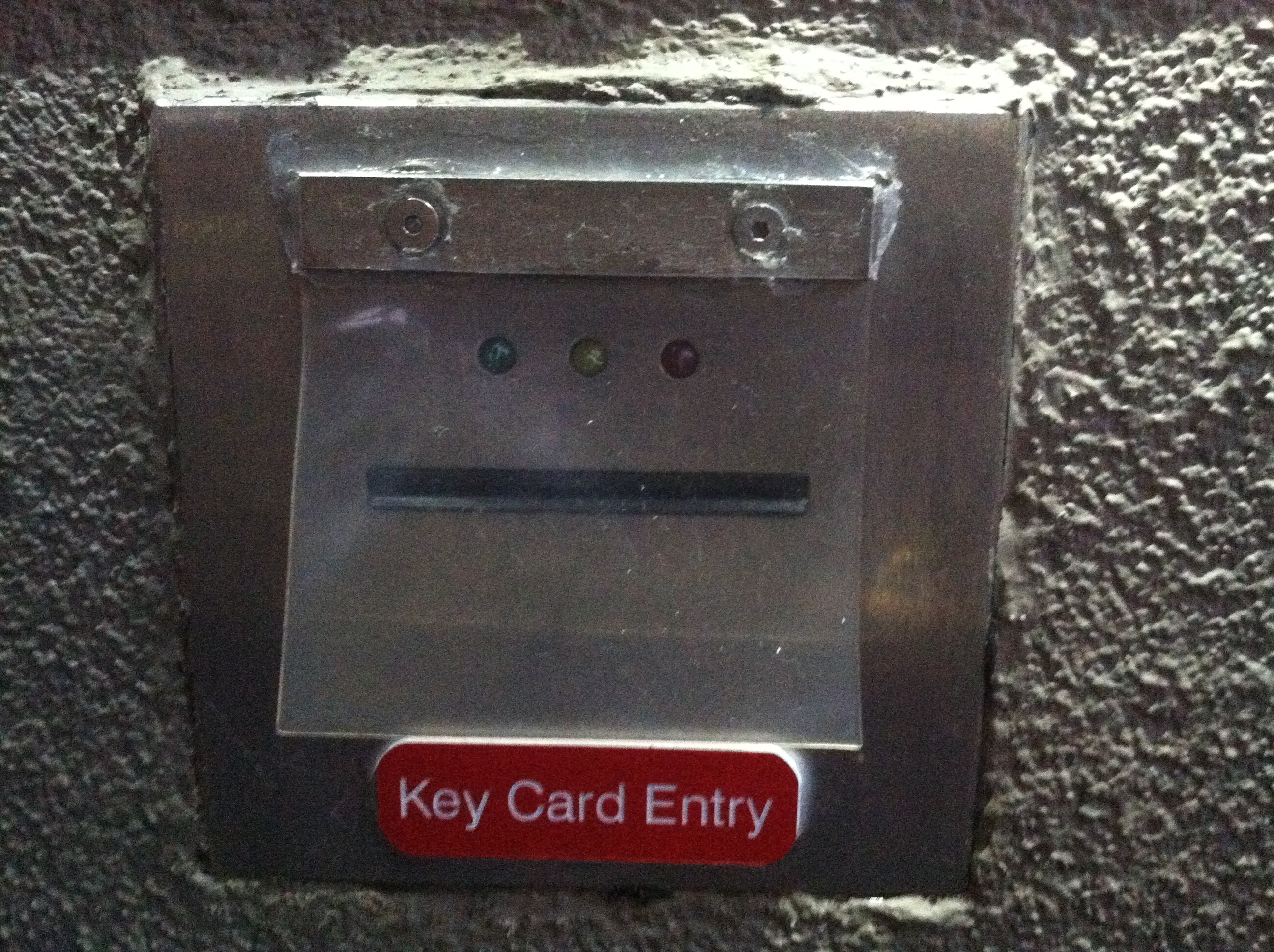 "Key Card Creeper.  ""Go ahead, put it in my mouth...slowly."""