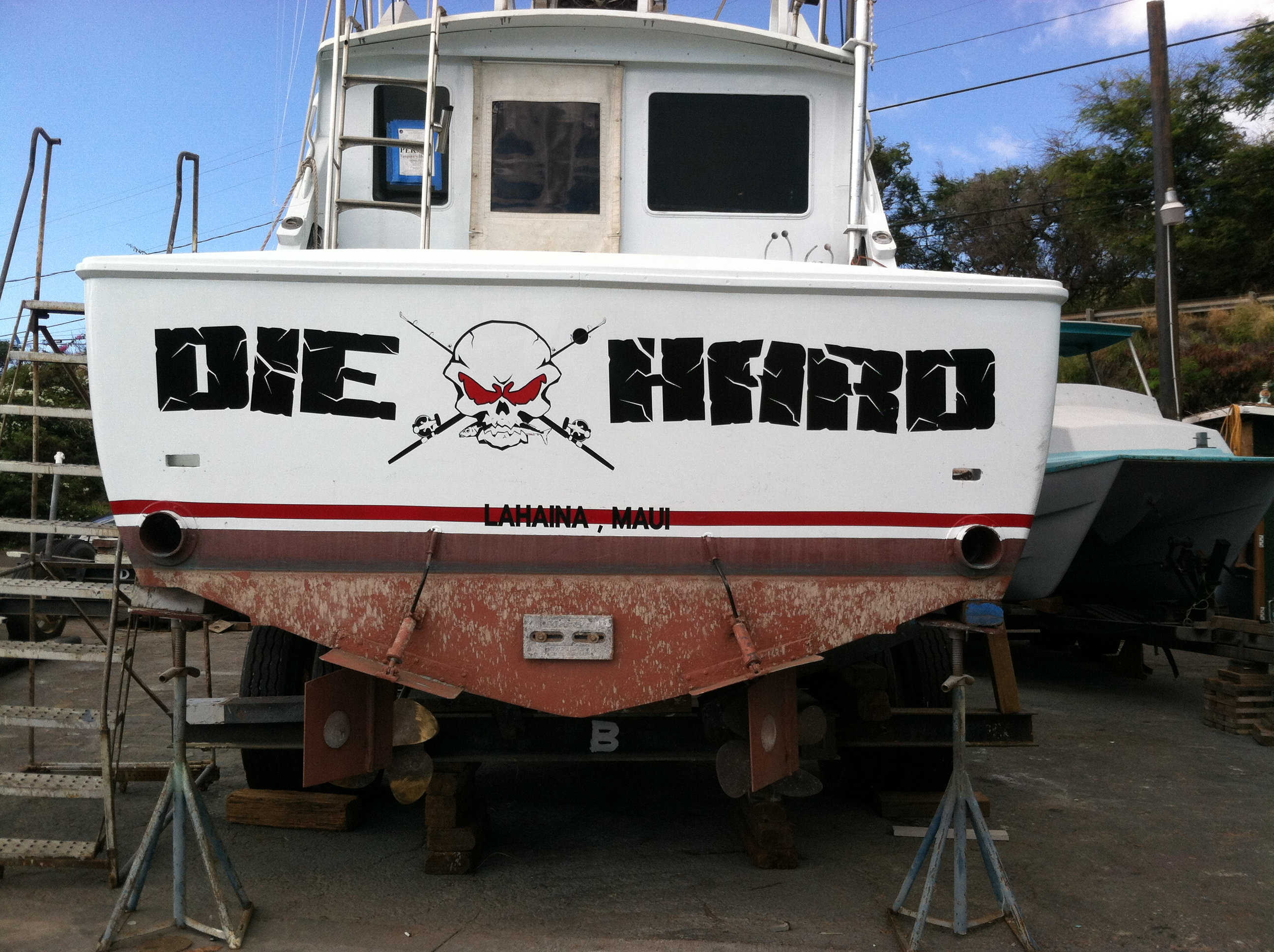 "John McClane's boat.  ""Welcome to the party, pal!"""