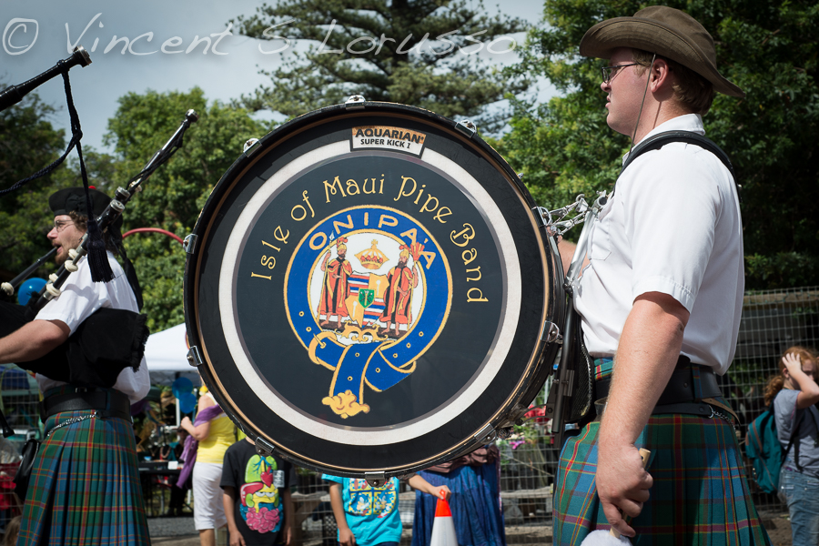 Maui pipe and drum band.