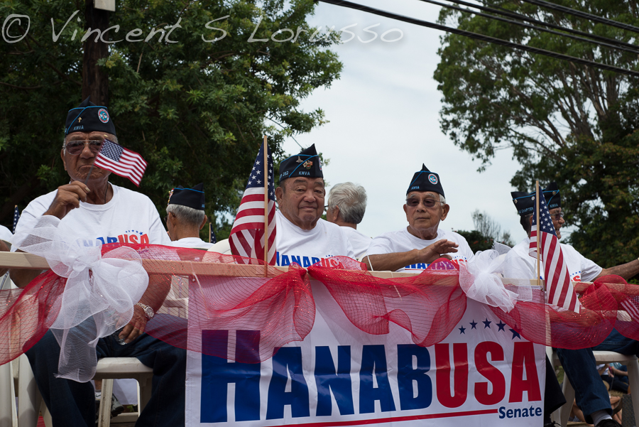 Colleen Hanabusa's parade float.