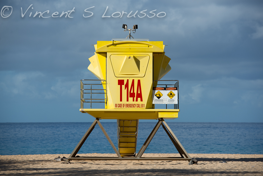Big Beach lifeguard stand or leftover Lunar Module form the Apollo program.