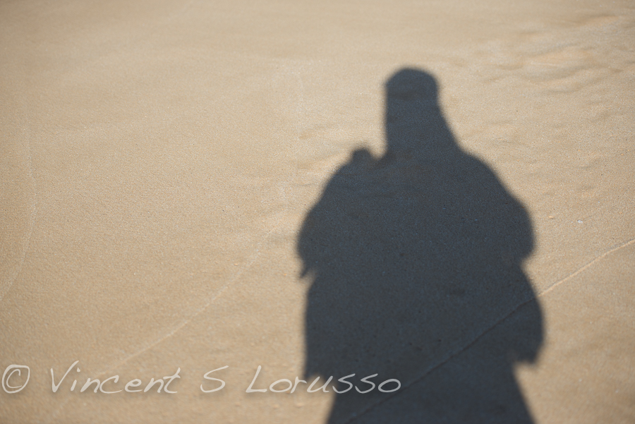 Sandy shadow selfie.