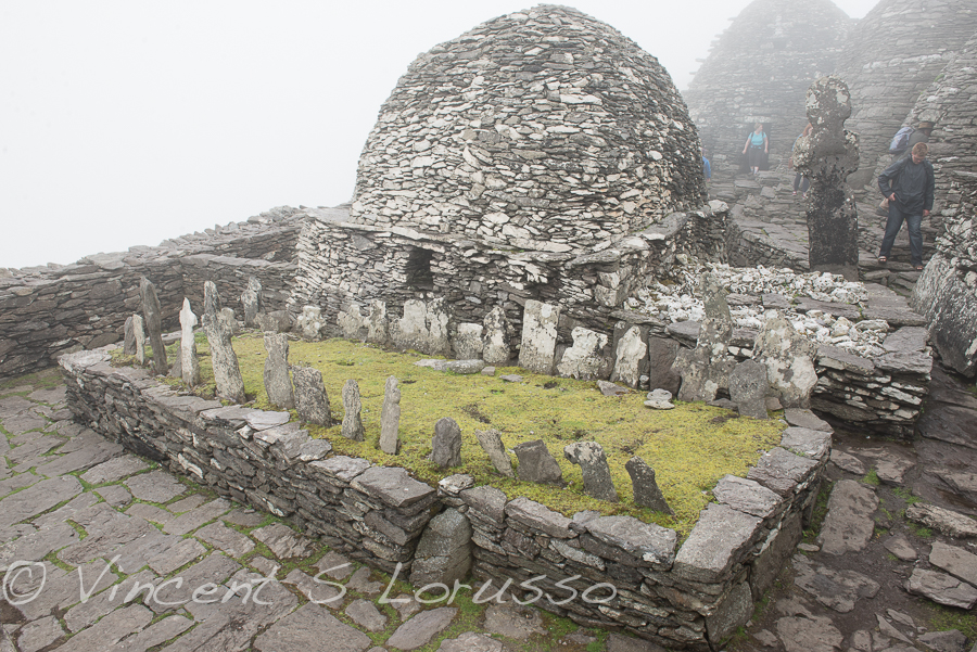The graveyard on Skellig Michael.