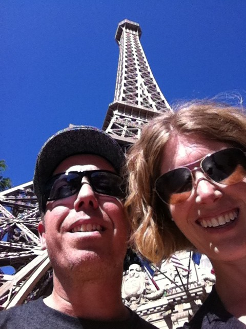 Emily and I in Paris...Las Vegas.