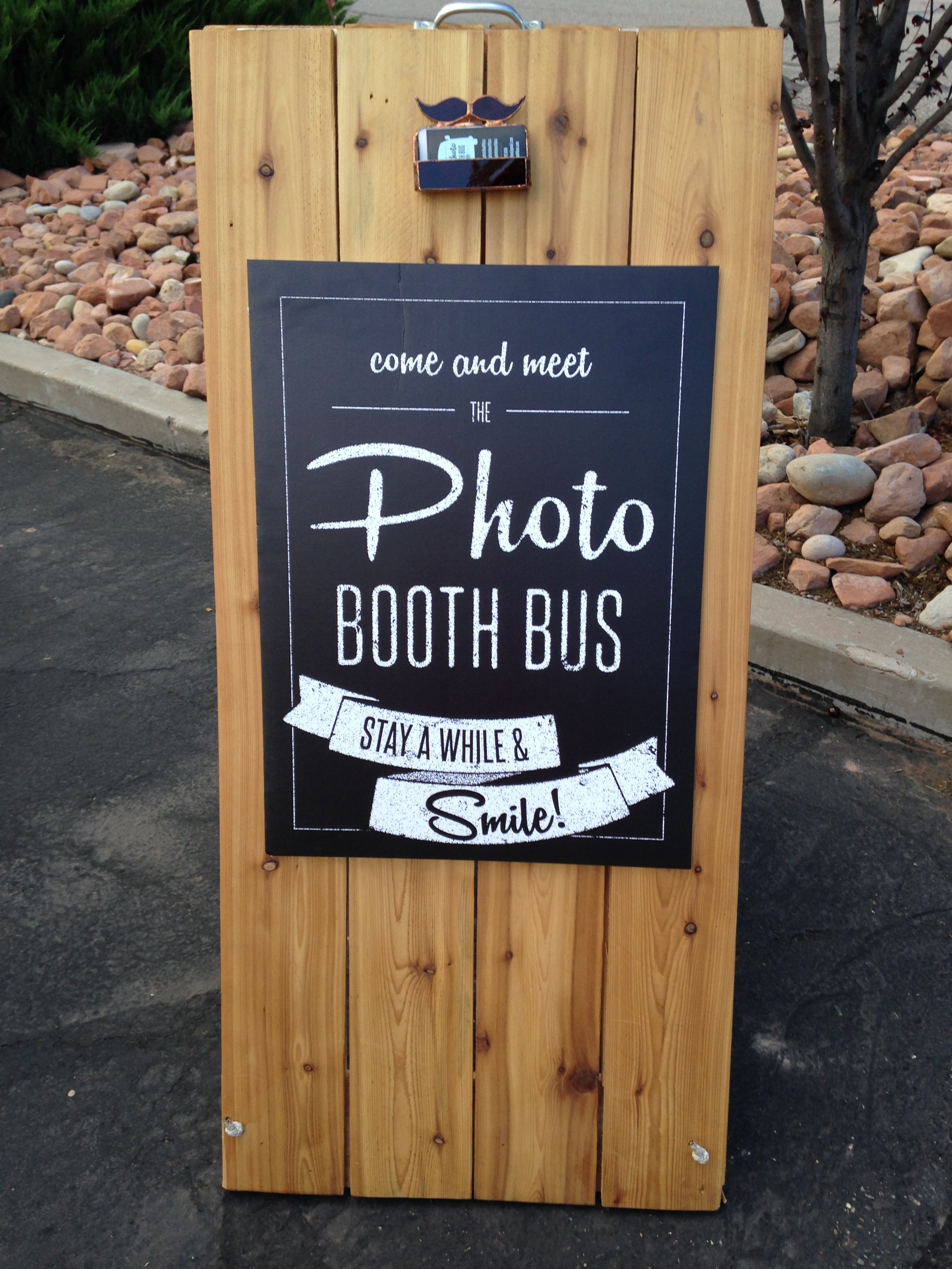 Photo Booth Bus signage.