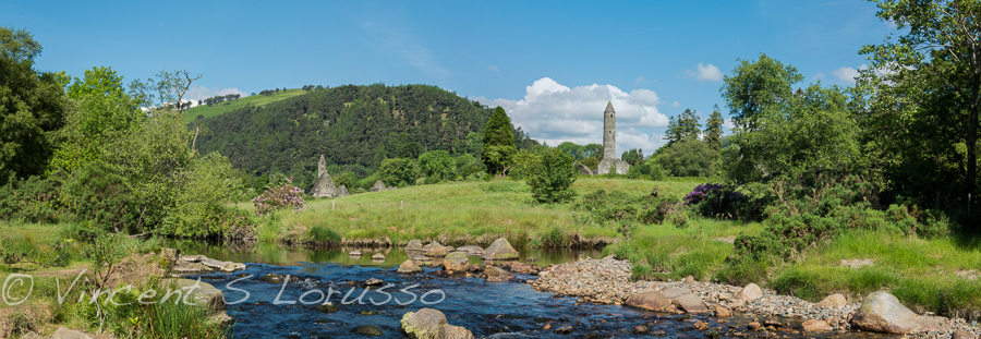 A panoramic shot of Glendalough.