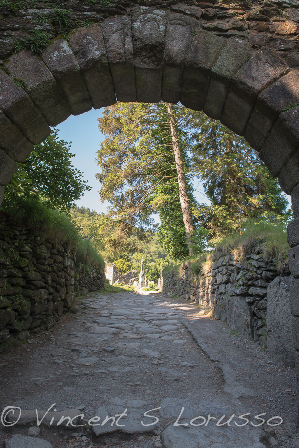 The main arch that leads to the 6th century monastic settlement.
