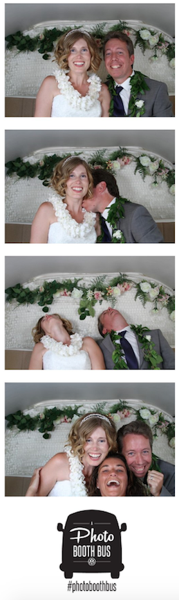 Photo strip from our wedding reception.